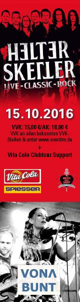 Helter Skelter | Vita Cola Clubtour Support: Vona Bunt | 15.10.2016 | Club Tante JU, Dresden | Konzert