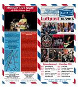 Programmheft Oktober 2016 | Tante JU, Dresden | Luftpost