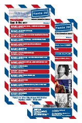 Programmübersicht | Flyer | September - November 2017 | Club Tante JU, Dresden | Konzerte