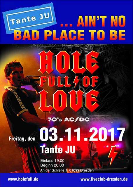 Hole Full Of Love Acdc Club Tante Ju Dresden Konzert Der