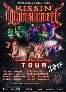 Kissin' Dynamite | Support: 20 Dark Seven | Club Tante JU, Dresden | Konzert | Generation Goodbye