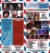Programmübersicht | Flyer | Januar + Februar 2018 | Club Tante JU, Dresden | Konzerte