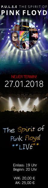 27.01.18 | PULSE (D) – The Spirit of Pink Floyd | Club Tante JU, Dresden, Konzert