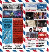 Programmübersicht | Flyer | März 2018 | Club Tante JU, Dresden | Konzerte