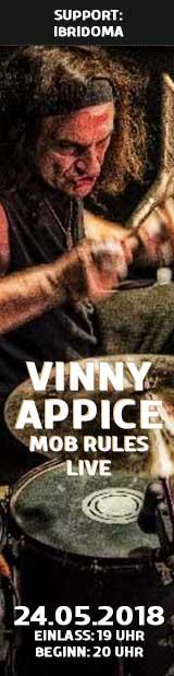24.05.18   Vinny Appice   Mob Rules Live   Club Tante JU, Dresden, Konzert