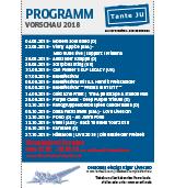 Programmübersicht | Vorschau 2. Hälfte 2018 | Club Tante JU, Dresden | Konzerte