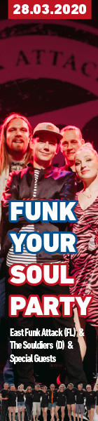 28.03.2020 | FUNK YOUR SOUL PARTY mit East Funk Attack (FL) & The Souldiers (D) ++ SPECIAL GUESTS | Tante JU, Dresden