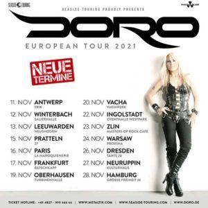 Doro European Tour 2021   Club Tante JU, Dresden